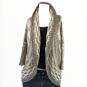 Suzy Shier XS Cardigan Sweater Cable Knit Boho